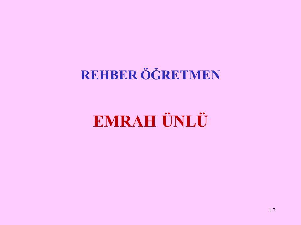 REHBER ÖĞRETMEN EMRAH ÜNLÜ