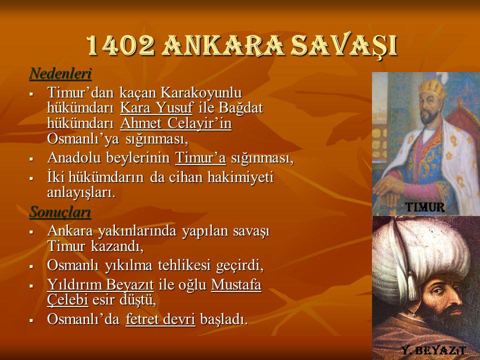 1402 Ankara savaŞI Nedenleri