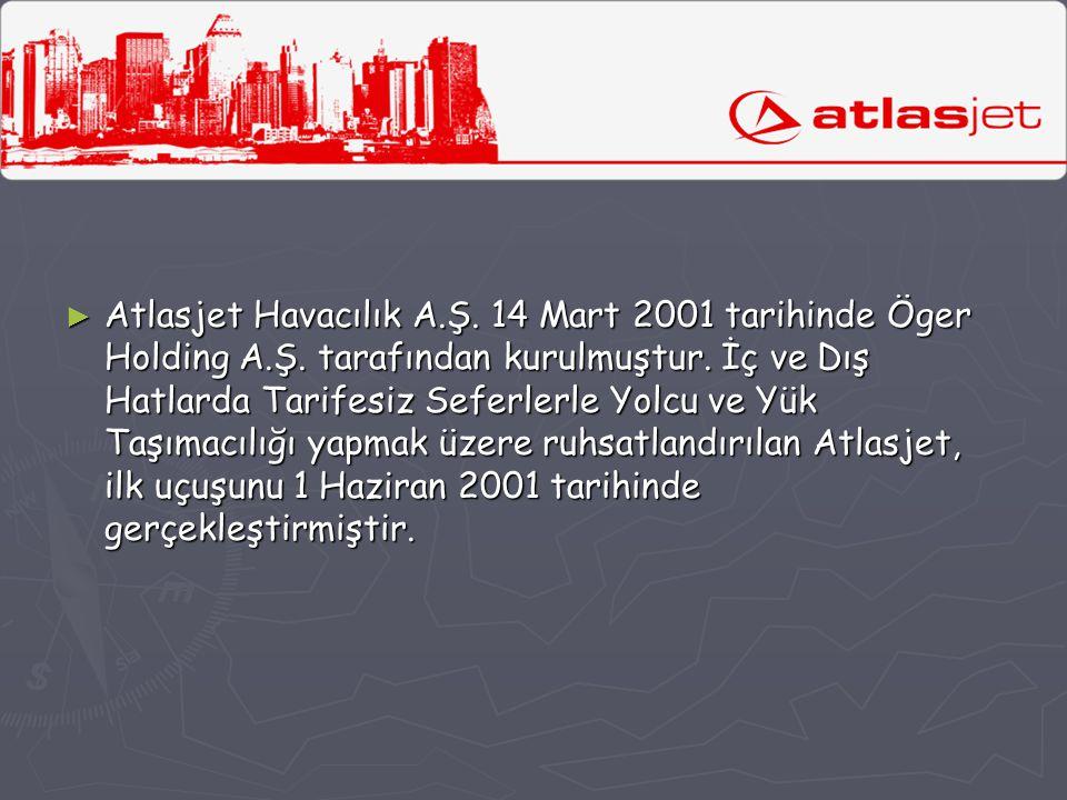 Atlasjet Havacılık A. Ş. 14 Mart 2001 tarihinde Öger Holding A. Ş