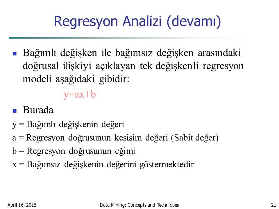 Regresyon Analizi (devamı)