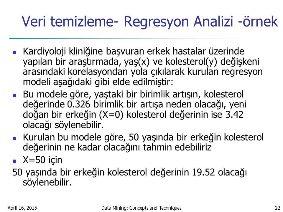 Veri temizleme- Regresyon Analizi -örnek