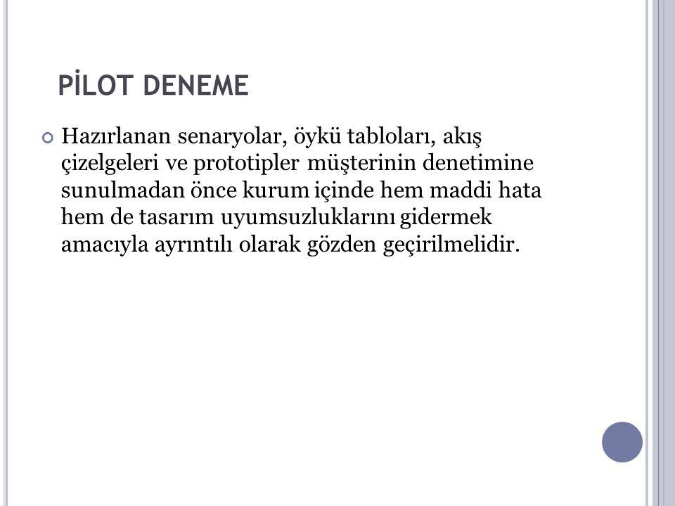 PİLOT DENEME