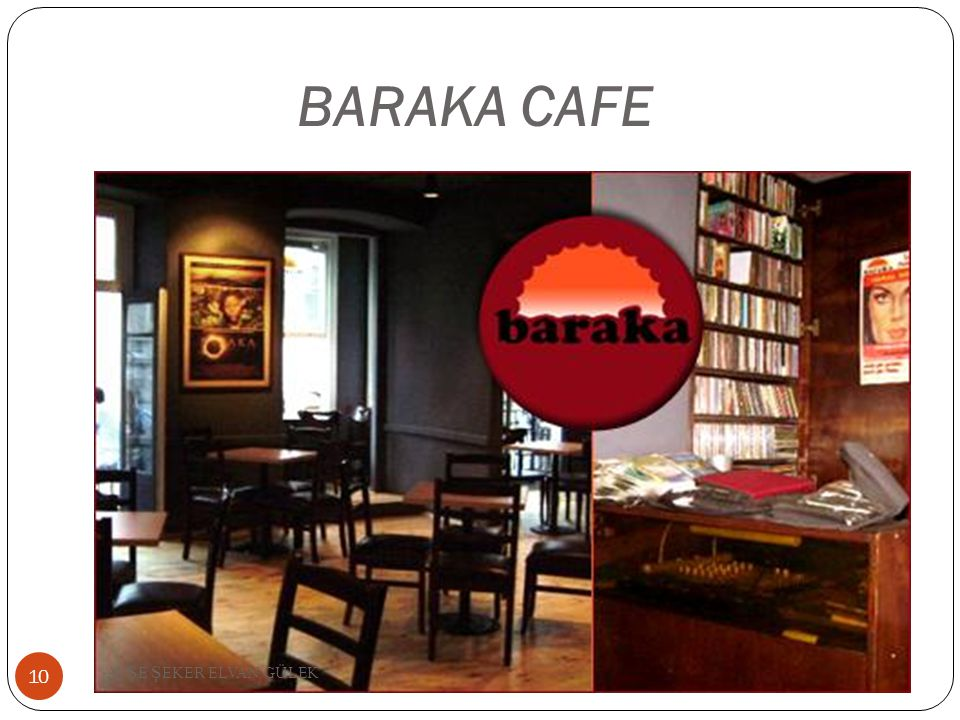 BARAKA CAFE AYŞE ŞEKER ELVAN GÜLEK