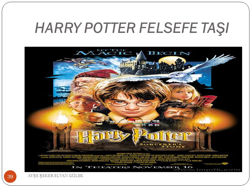 HARRY POTTER FELSEFE TAŞI