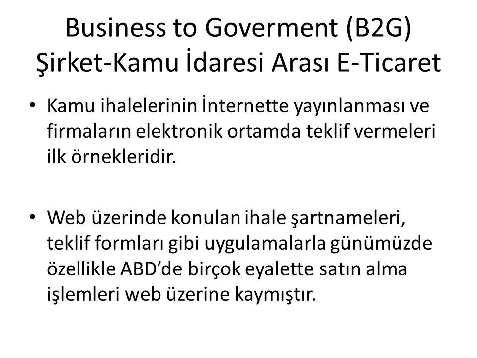 Business to Goverment (B2G) Şirket-Kamu İdaresi Arası E-Ticaret