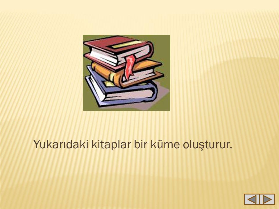 Yukarıdaki kitaplar bir küme oluşturur.
