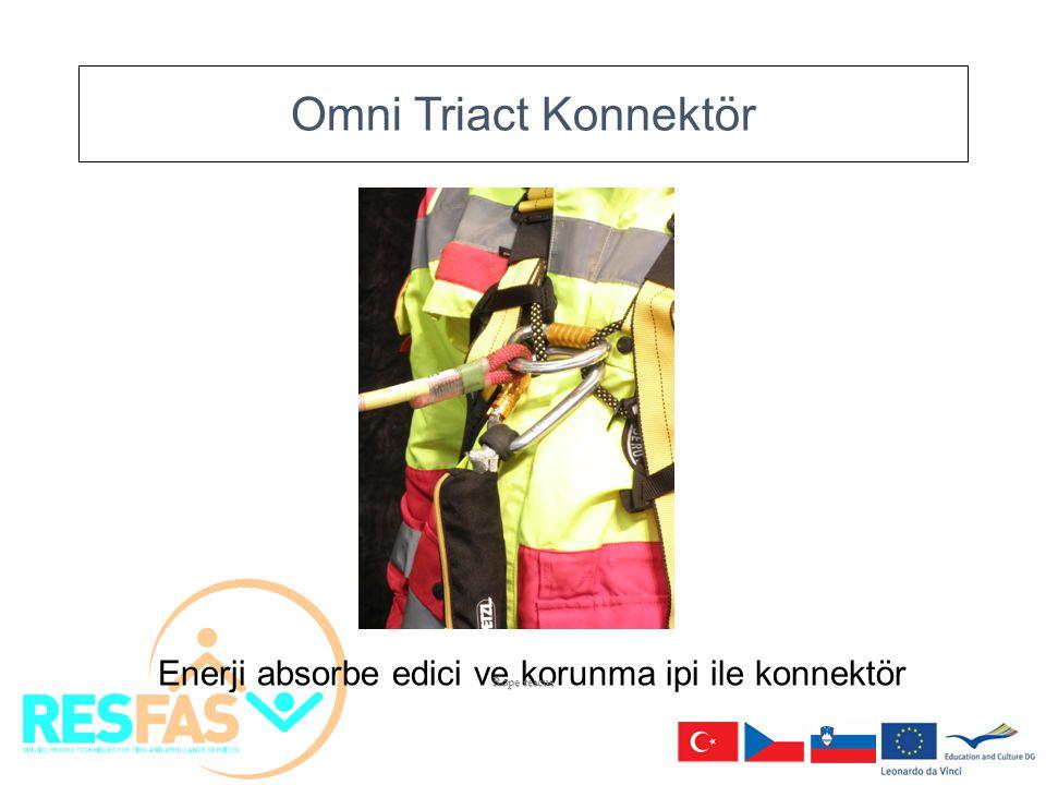 Omni Triact Konnektör Enerji absorbe edici ve korunma ipi ile konnektör Rope rescue