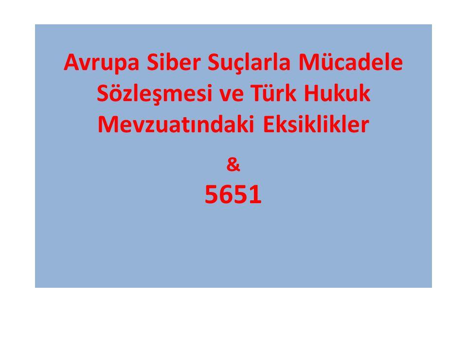 Avrupa Siber Suçlarla Mücadele Sözleşmesi ve Türk Hukuk Mevzuatındaki Eksiklikler