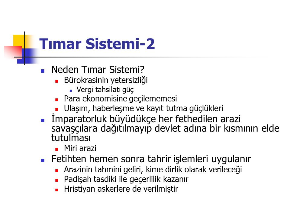 Tımar Sistemi-2 Neden Tımar Sistemi