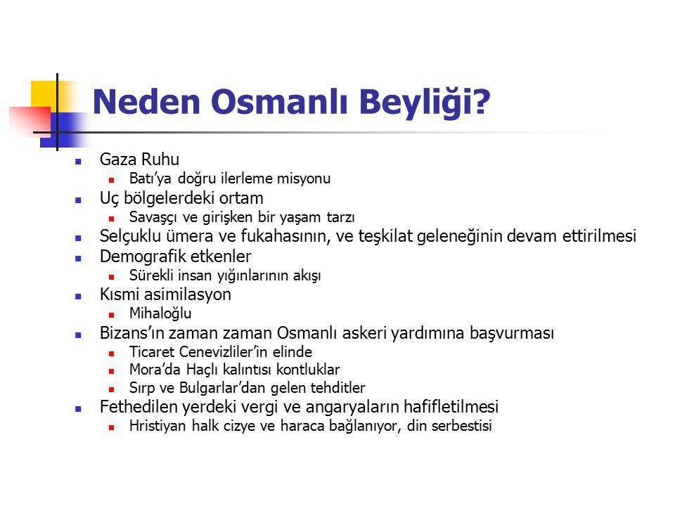 Neden Osmanlı Beyliği Gaza Ruhu Uç bölgelerdeki ortam