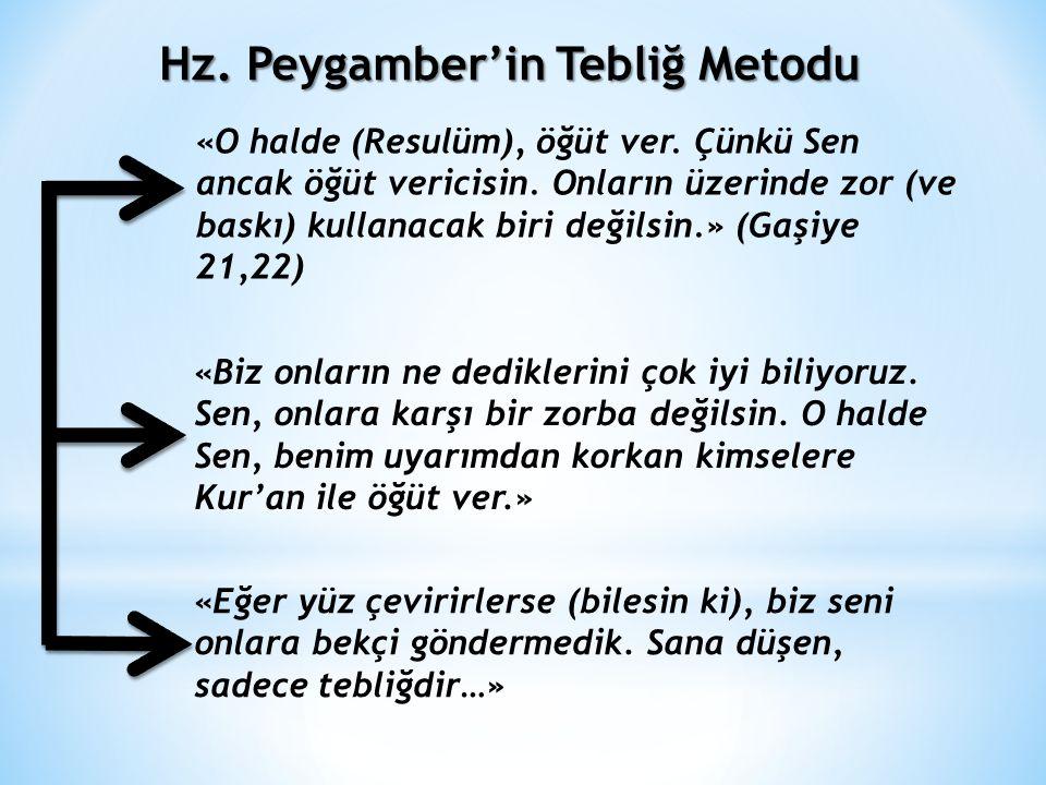 Hz. Peygamber'in Tebliğ Metodu
