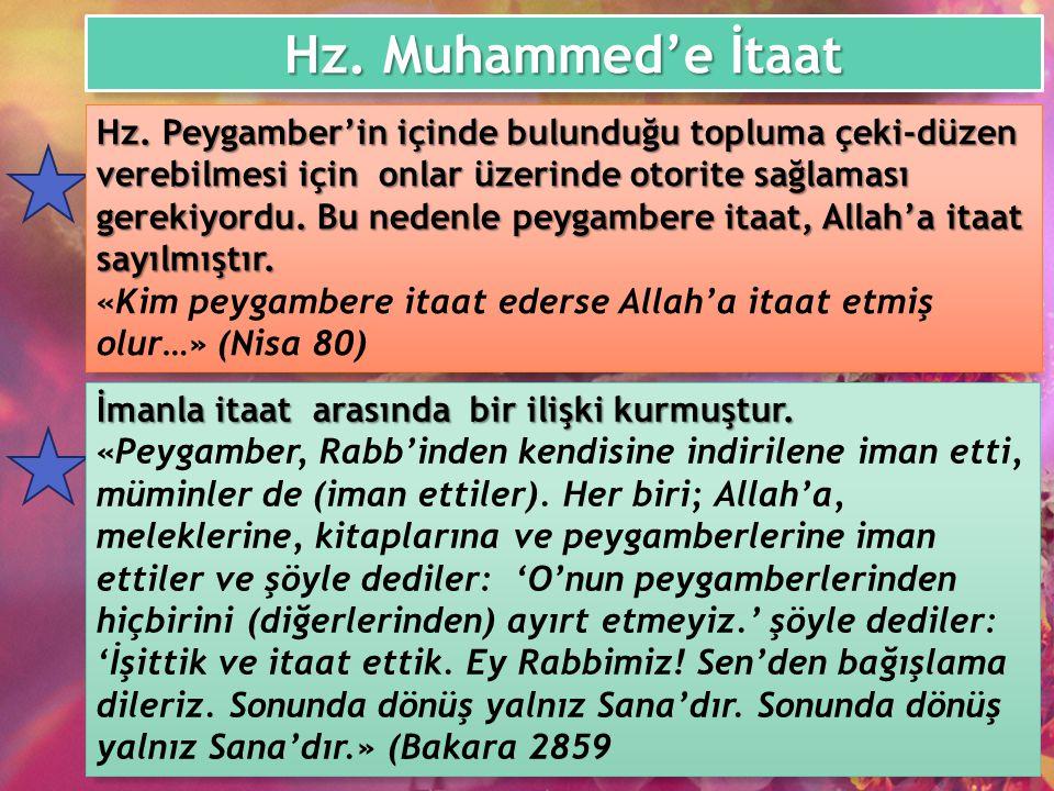 Hz. Muhammed'e İtaat