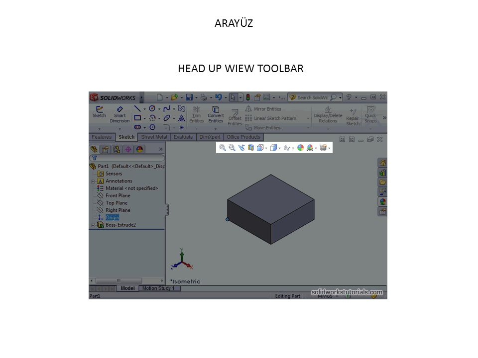 ARAYÜZ HEAD UP WIEW TOOLBAR