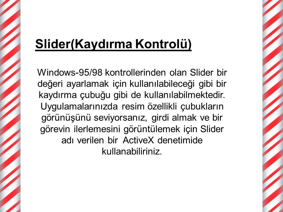 Slider(Kaydırma Kontrolü)