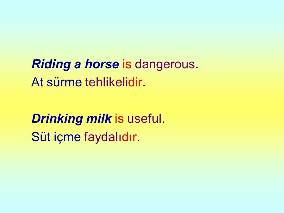 Riding a horse is dangerous.