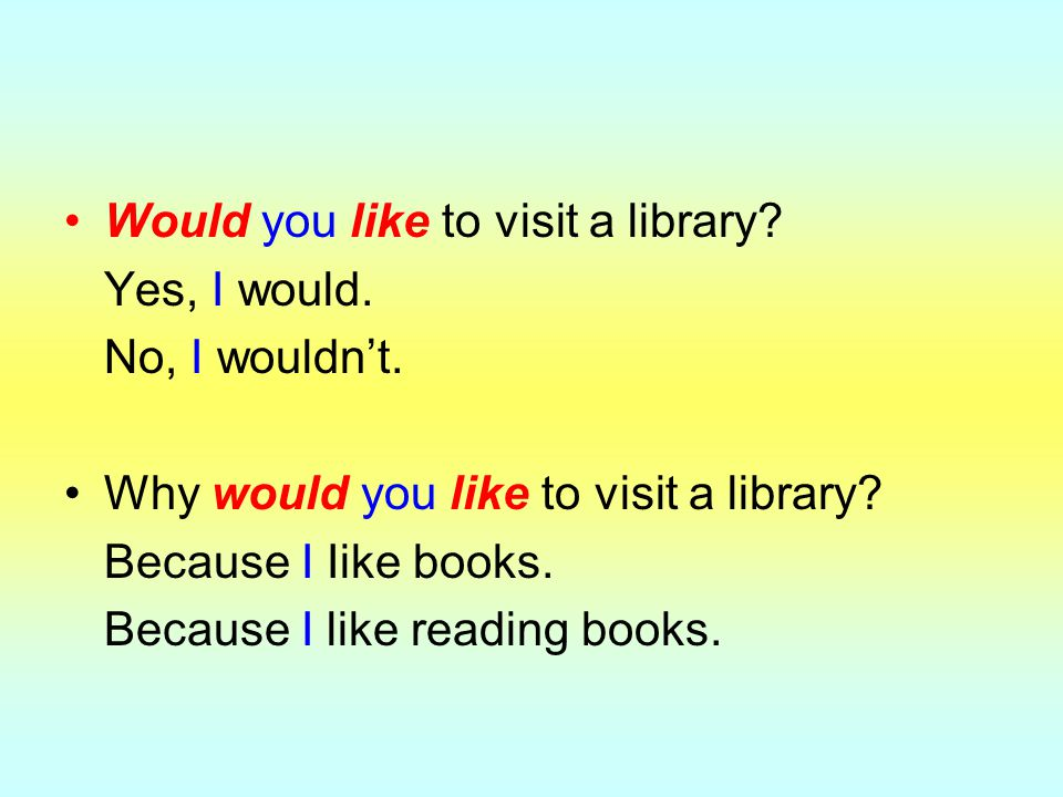 Would you like to visit a library