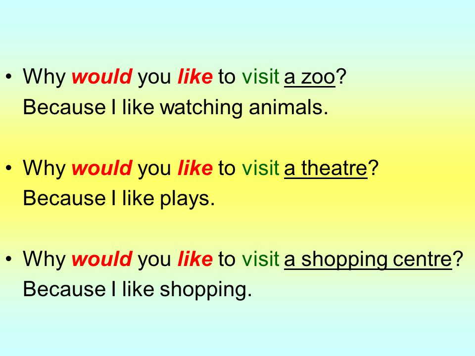 Why would you like to visit a zoo