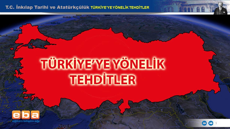 T.C. İnkılap Tarihi ve Atatürkçülük TÜRKİYE'YE YÖNELİK TEHDİTLER