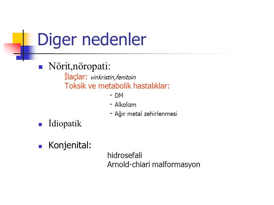 Diger nedenler Nörit,nöropati: İdiopatik Konjenital: