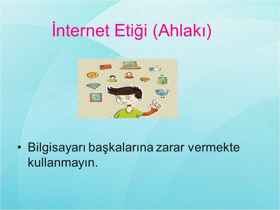 İnternet Etiği (Ahlakı)