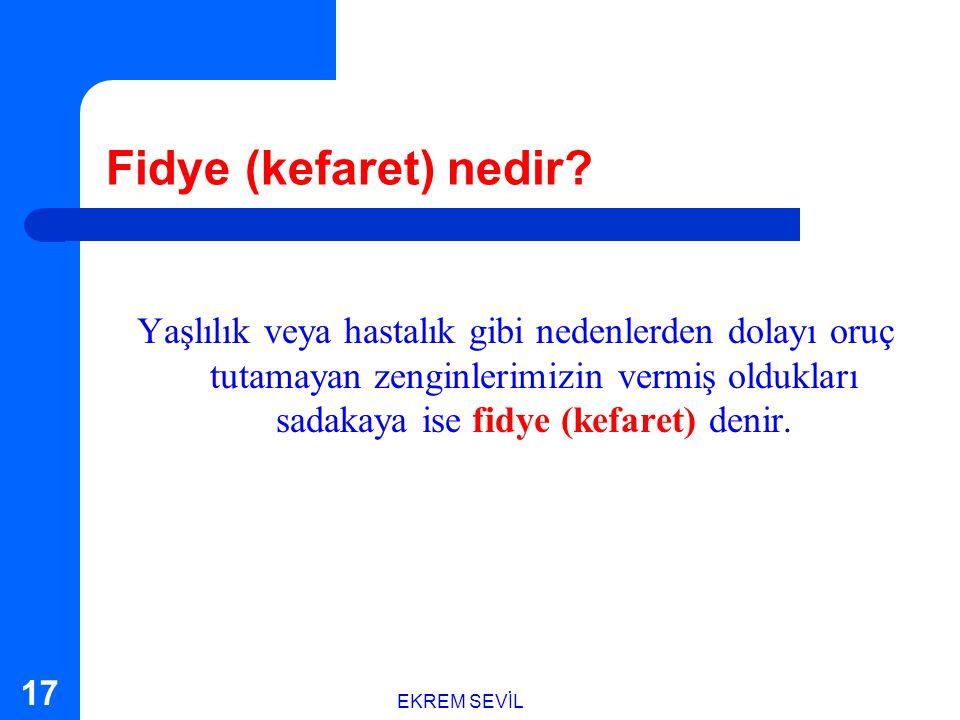 Fidye (kefaret) nedir