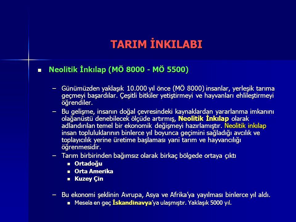 TARIM İNKILABI Neolitik İnkılap (MÖ 8000 - MÖ 5500)