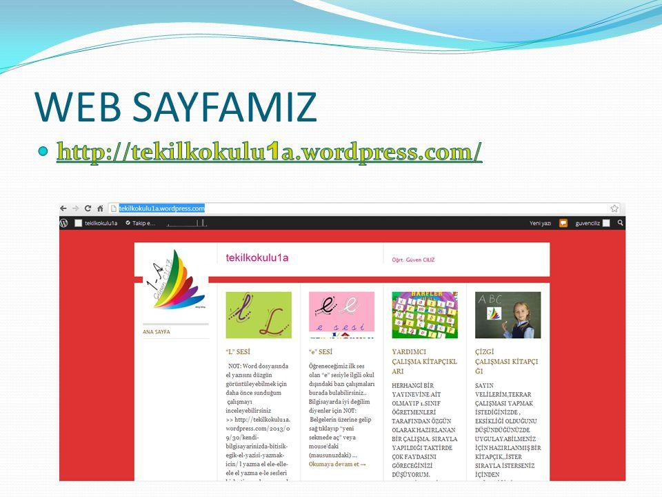 WEB SAYFAMIZ http://tekilkokulu1a.wordpress.com/