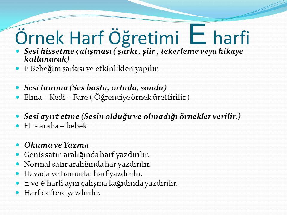 Örnek Harf Öğretimi E harfi
