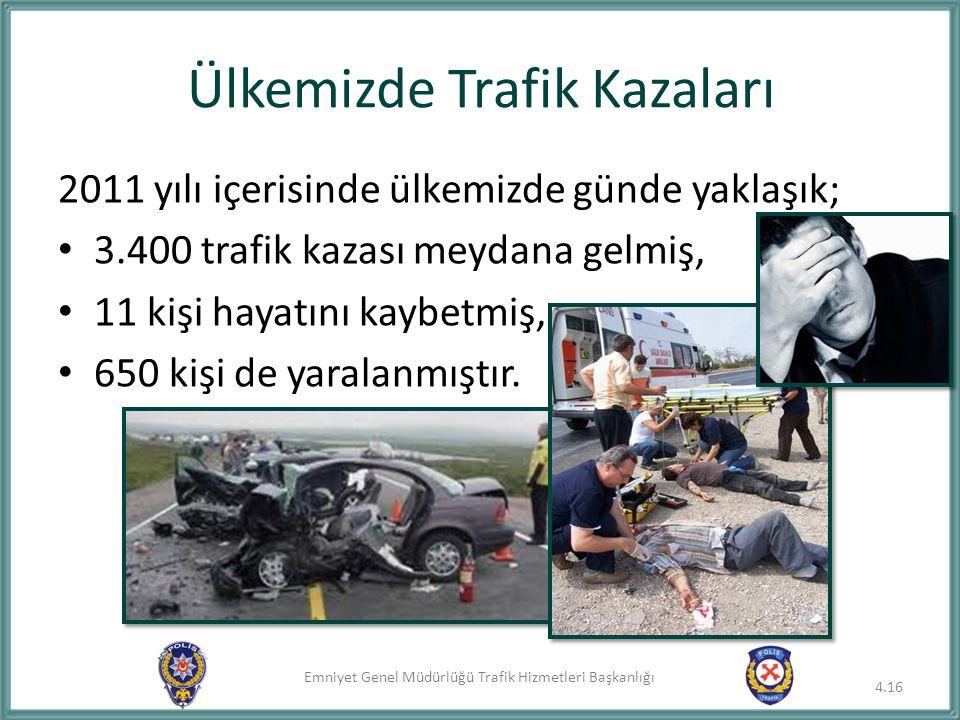 Ülkemizde Trafik Kazaları