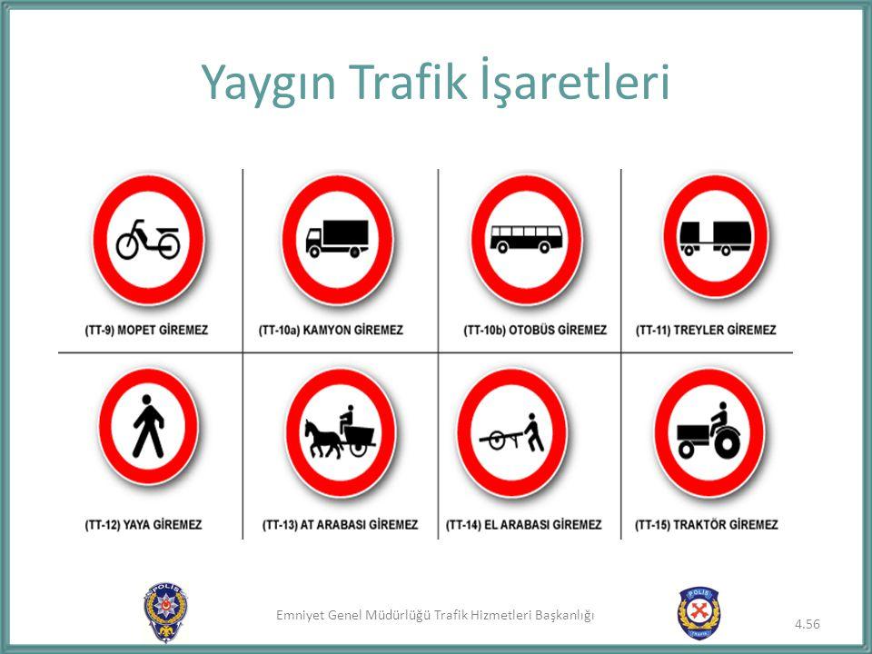 Yaygın Trafik İşaretleri