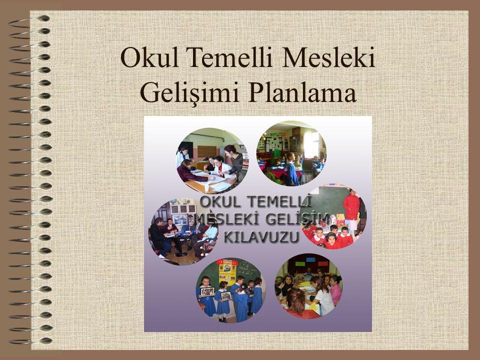 Okul Temelli Mesleki Gelişimi Planlama