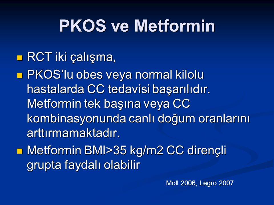 PKOS ve Metformin RCT iki çalışma,