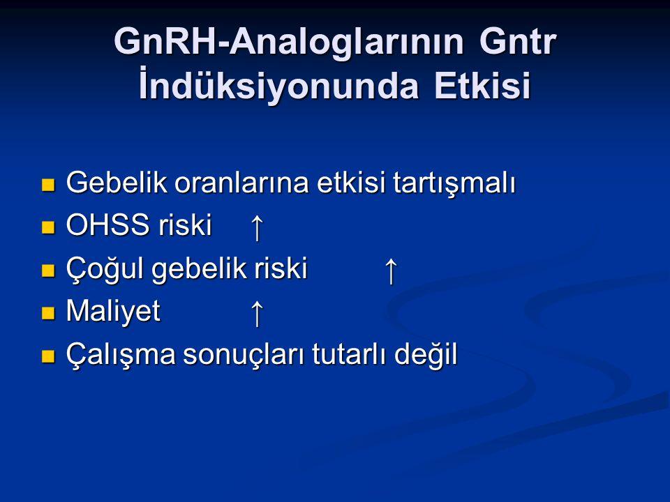 GnRH-Analoglarının Gntr İndüksiyonunda Etkisi