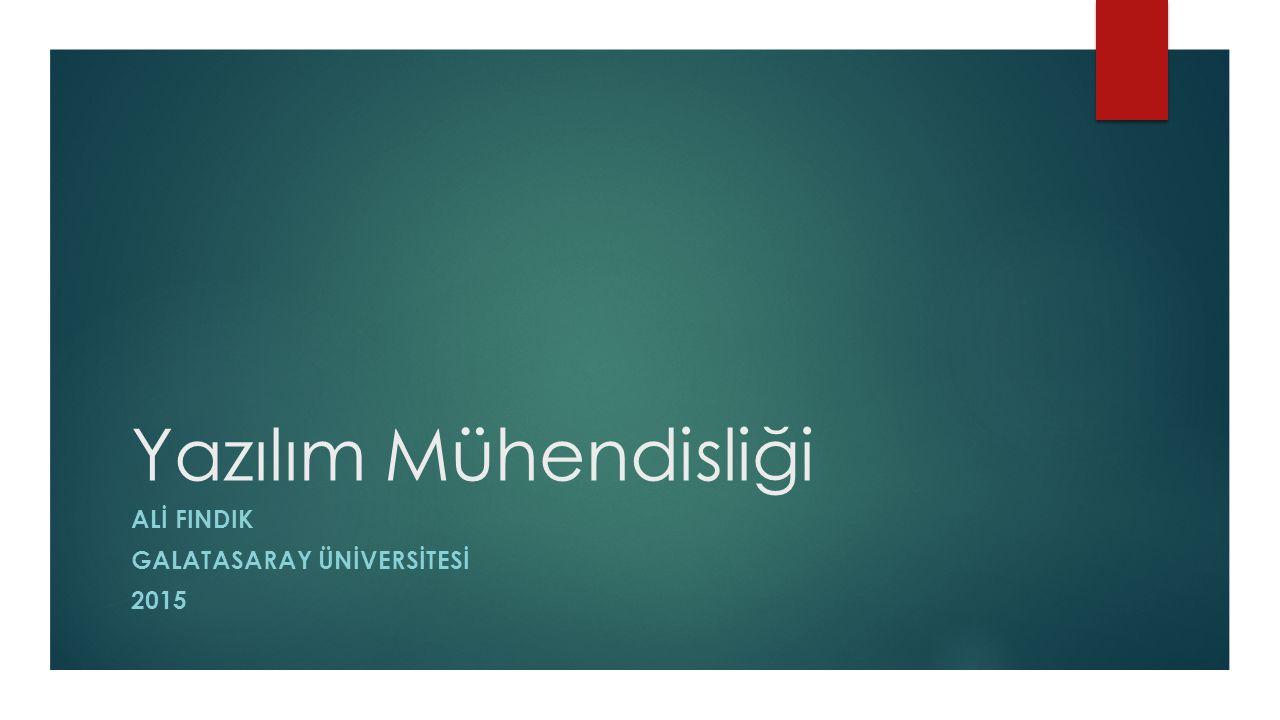 ALİ FINDIK Galatasaray Ünİversİtesİ 2015