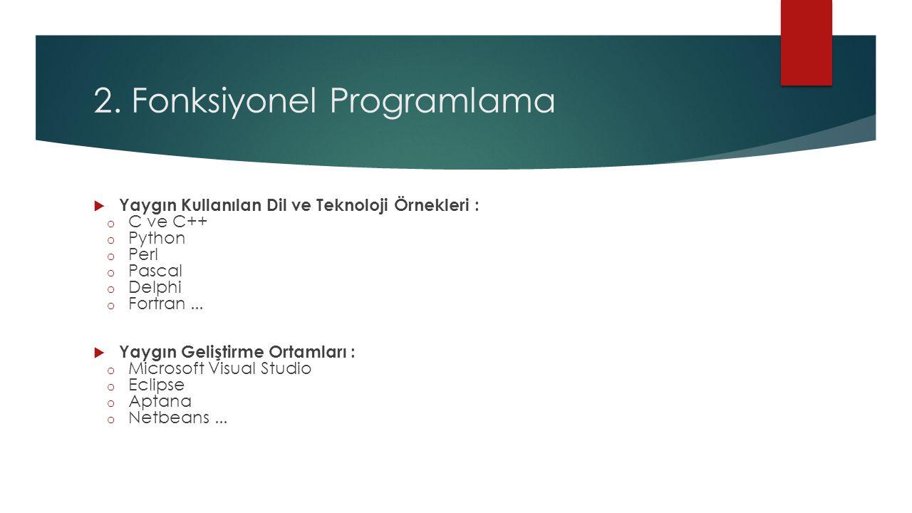 2. Fonksiyonel Programlama