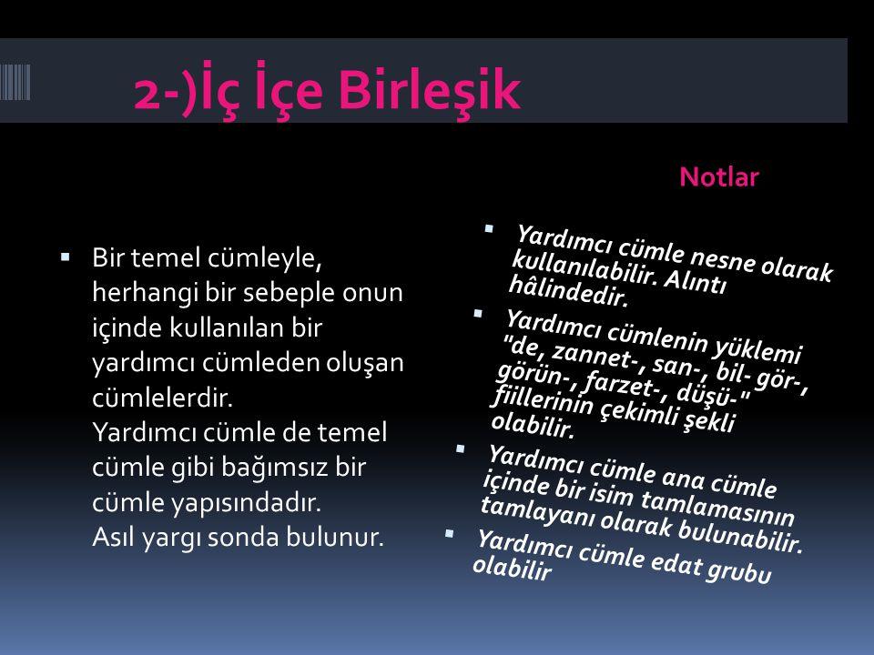 2-)İç İçe Birleşik Notlar