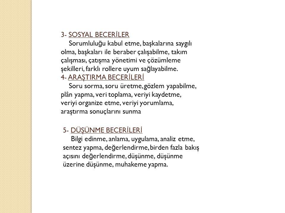 3- SOSYAL BECERİLER