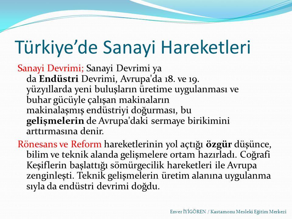 Türkiye'de Sanayi Hareketleri