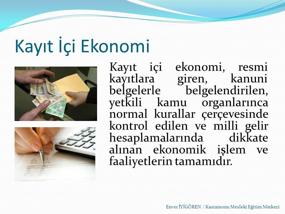 Kayıt İçi Ekonomi