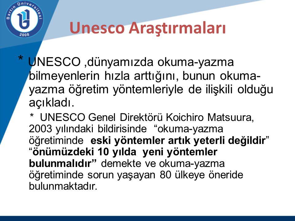 Unesco Araştırmaları