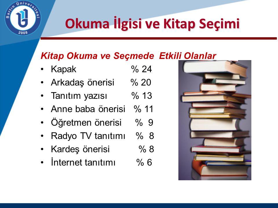Okuma İlgisi ve Kitap Seçimi