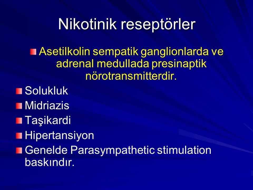 Nikotinik reseptörler