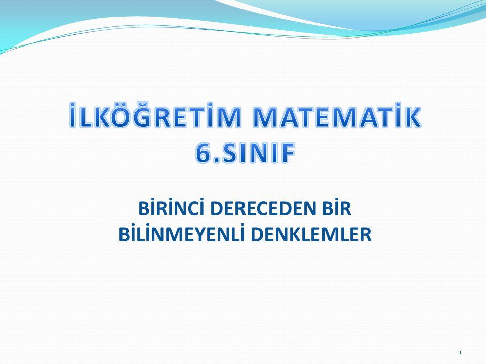İLKÖĞRETİM MATEMATİK 6.SINIF