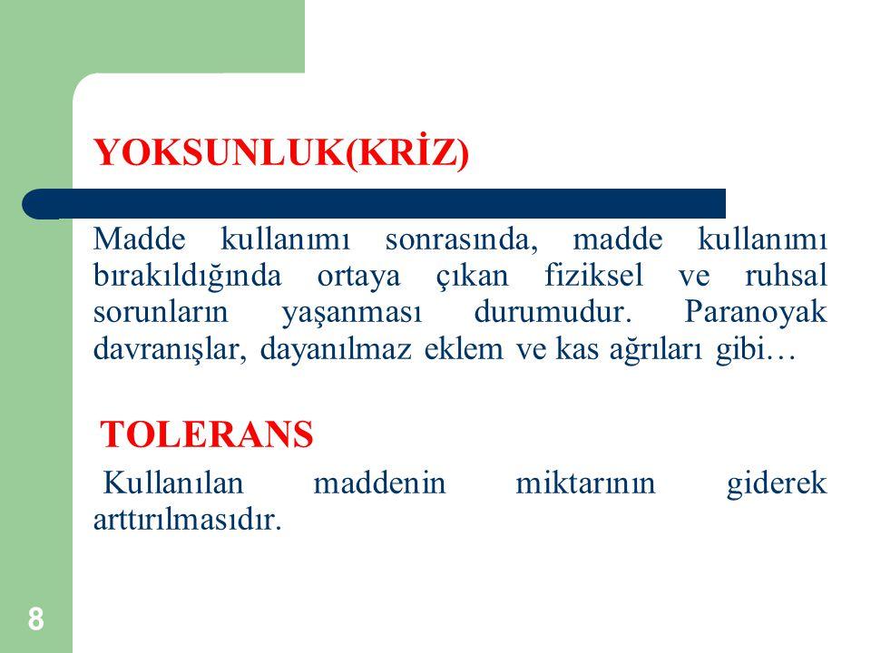 YOKSUNLUK(KRİZ) TOLERANS