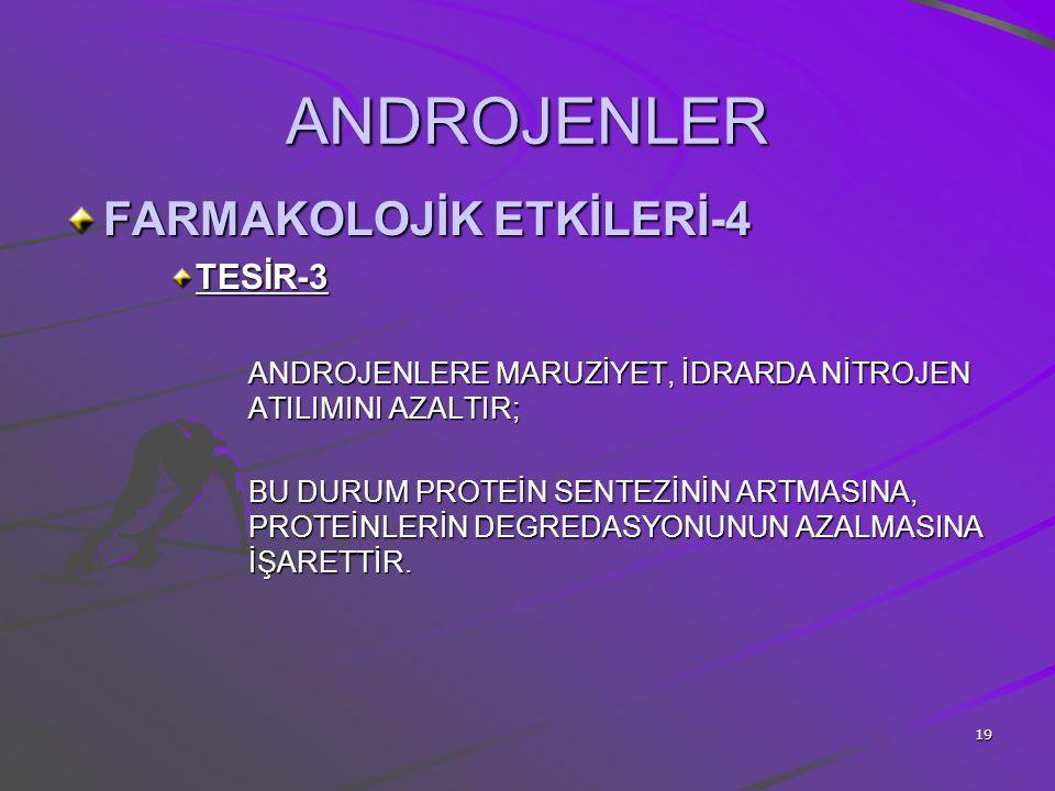 ANDROJENLER FARMAKOLOJİK ETKİLERİ-4 TESİR-3