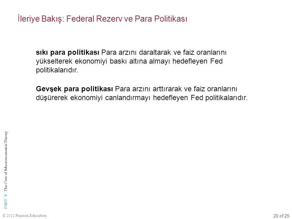İleriye Bakış: Federal Rezerv ve Para Politikası
