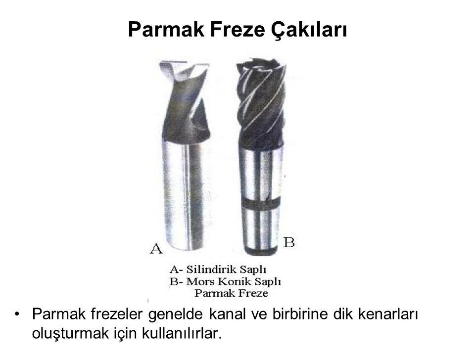 Parmak Freze Çakıları Parmak frezeler genelde kanal ve birbirine dik kenarları oluşturmak için kullanılırlar.