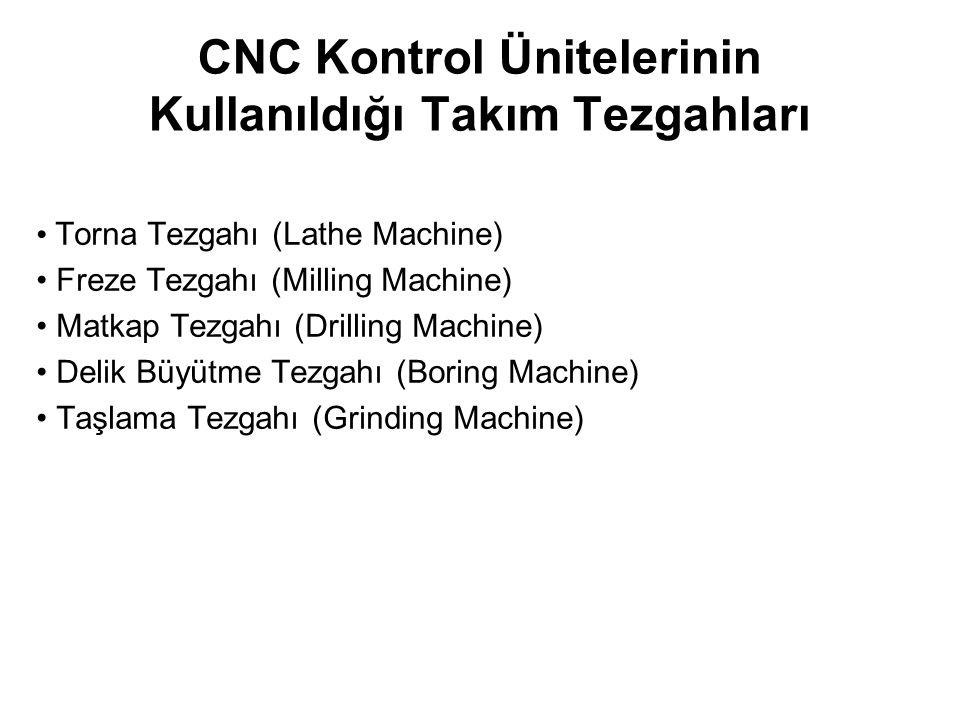 CNC Kontrol Ünitelerinin Kullanıldığı Takım Tezgahları