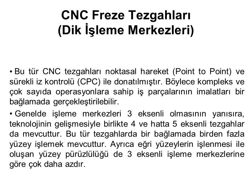 CNC Freze Tezgahları (Dik İşleme Merkezleri)