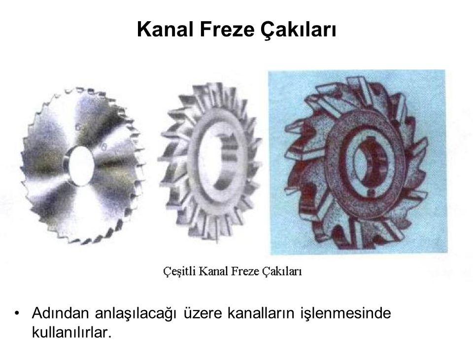 Kanal Freze Çakıları Adından anlaşılacağı üzere kanalların işlenmesinde kullanılırlar.